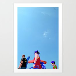 Super...on the beach Art Print