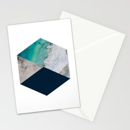 Geometric Ocean inspired Art Stationery Cards