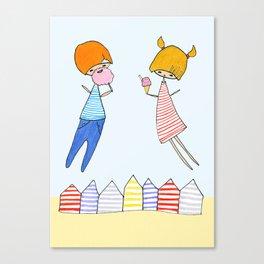 Let's go to the beach! Canvas Print