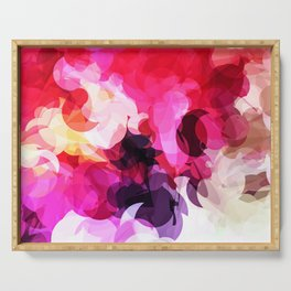 Bright Happy Color Abstract Serving Tray