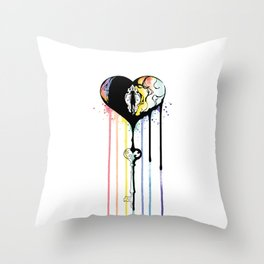 Rainbow Heartbleed Throw Pillow