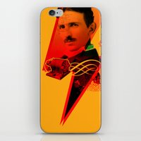 tesla iPhone & iPod Skins featuring Tesla by Chincol