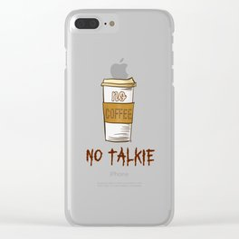No Coffee No Talkie - Beans Clear iPhone Case