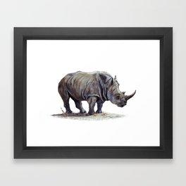 Rhinoceros painting Framed Art Print
