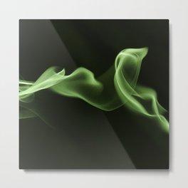 Green Smoke Pattern Metal Print