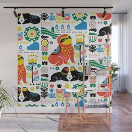 Scandinavian Sloths Wall Mural