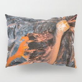 Abstract Painting - Volcano Eruption Aerial Pillow Sham
