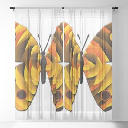 Butterfly Sheer Curtain