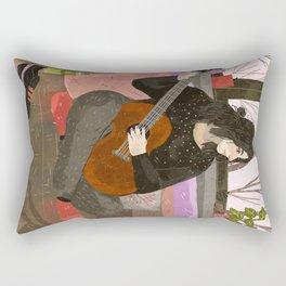 girl with guitar Rectangular Pillow