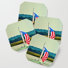US Flag Sailboat Coaster