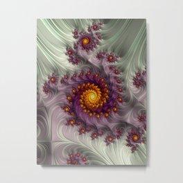 Saffron Frosting - Fractal Art Metal Print
