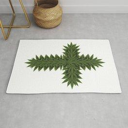 Weed Cross - Marijuana THC CBD Stoner Rug
