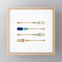 Oars Framed Mini Art Print