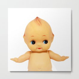 Cute little naked baby doll. Metal Print