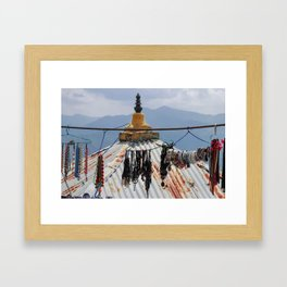 A shop with a view Framed Art Print