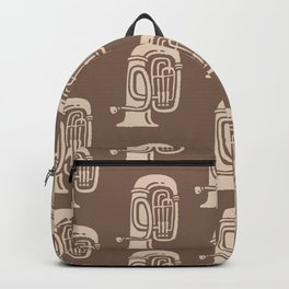 Tuba Pattern Brown and beige 2 Backpack