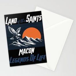 Land of the saints Macon Legends of life mask Eagles Funny Stationery Cards