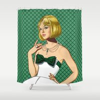 emerald Shower Curtains featuring Emerald by Tom Tierney Studios