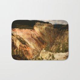 Yellow Rocks Of The Yellowstone Valley Bath Mat