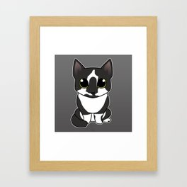 Superchibi Conrad the Cat Framed Art Print