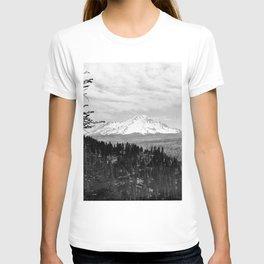 Mount Shasta, and neighboring mountain Shastina, Siskiyou County, ca.1900-1940 T-shirt