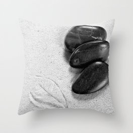 massage stones and leaf mark Throw Pillow