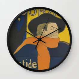 "Henri de Toulouse-Lautrec ""Eldorado: Aristide Bruant"" Wall Clock"