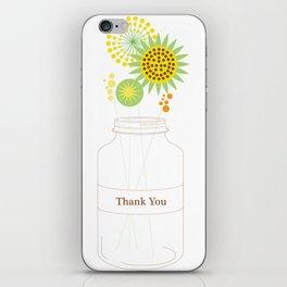 Mason Jar Thank You Cards iPhone Skin