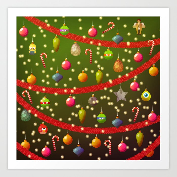 Look At These Christmas Decorations Art Print By Picaae Society6
