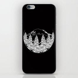 Mt. Rainier  |  Black iPhone Skin