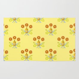 Waffle and Syrup (Yellow Cake Fluff) Rug