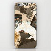 folk iPhone & iPod Skins featuring Folk vs. Metal by Logan  Faerber