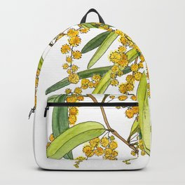 Australian Wattle Flower, Illustration Backpack