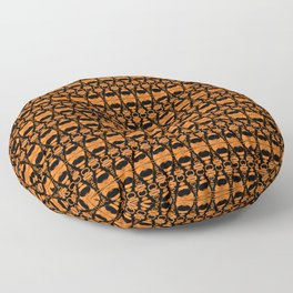 Dividers 02 in Orange Brown over Black Floor Pillow