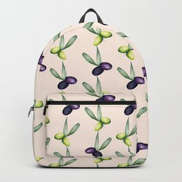 Olives Pattern Backpack