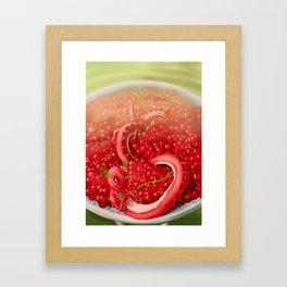 Berry dragon Framed Art Print
