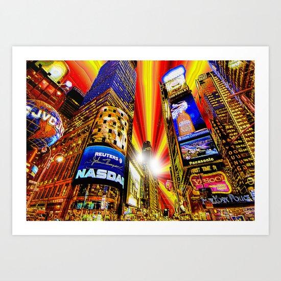 Times Squared Art Print