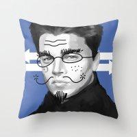 leonardo Throw Pillows featuring Leonardo DiCaprio by Pazu Cheng