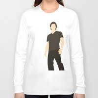 sam winchester Long Sleeve T-shirts featuring Sam Winchester - Supernatural - Minimalist design by Hrern1313
