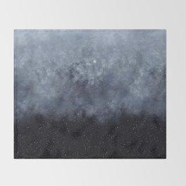 Blue veiled moon II Throw Blanket