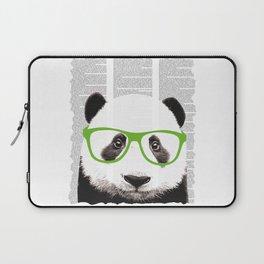 Panda with glasses Laptop Sleeve