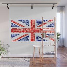 Great Britain Landmark Flag Wall Mural
