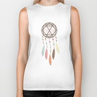 dream catcher Biker Tanks featuring Dream Catcher by 83 Oranges™