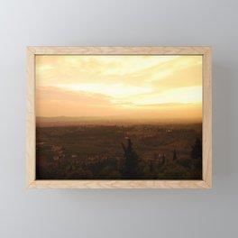 Sunset over Firenze Framed Mini Art Print
