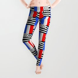 Mix of flag: france and brittany Leggings