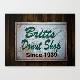 Britt's Donut Shop Sign 1 Canvas Print
