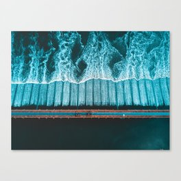 River Crossing - Thailand Canvas Print