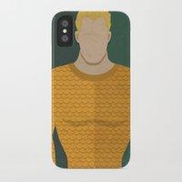 aquaman iPhone & iPod Cases featuring Aquaman by Loud & Quiet
