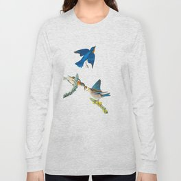 Blue Bird Vintage Illustration Long Sleeve T-shirt