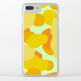 Warm and Cool Tone Terrazzo Clear iPhone Case